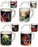 alles-meine.de GmbH Henkeltasse -  Star Wars - Darth Vader & Yoda  - Porzellan / Keramik - Trinktasse mit Henkel / Tasse Becher - Porzellantasse Tassen für Kinder & Erwachsene ..