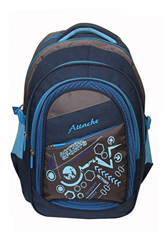 Attache Sporty School Bag (Blue)  available at amazon for Rs.999