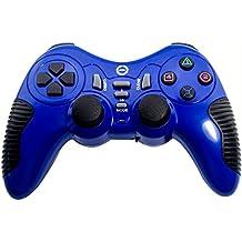 Ckeyin® 3 en 1 PS2 y PS3 y PC 2.4GHz inalámbrico choque Joystick - Azul