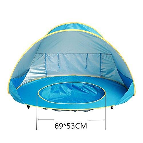 Pop-up Baby-Zelt mit Strand Pool Automatische faltbare Zelt Sonnenschutz UV-Schutz geeignet Sehr für Kinder Strandurlaub