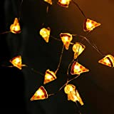 ELINKUME 20 leuchtet LED Form in Pizza Silberdraht Indoor Fee Zeichenfolge für Zuhause oder im Geschäft Dekor (warmweiß)