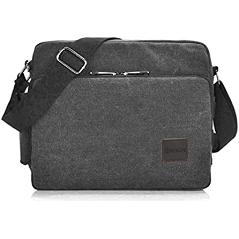 Messenger Bag, GSTEK Unisex Vintage Canvas Messenger Bags Casual Spalla