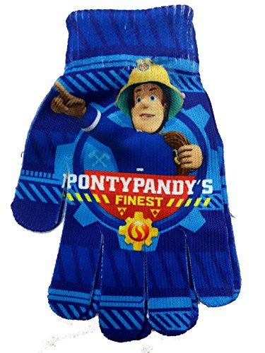 Preisvergleich Produktbild Fireman Sam Feuerwehrmann Sam Offiziell lizensierter Blau Handschuhe / Fäustlinge