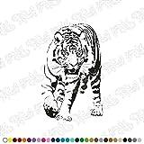Dalinda® WANDTATTOO rennender Tiger WANDAUFKLEBER WANDSTICKER WALLPRINT (Größe 50 x 80 cm) NR170