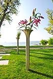 XXD Opera Grande Vaso da Giardino in Acciaio Inox o Giardino Torcia