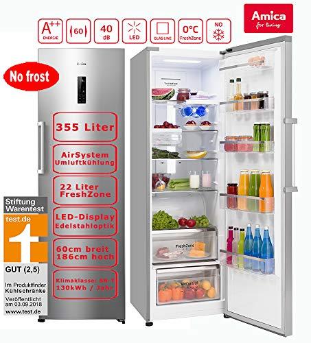 Amica VKS 15780E autonome 355L A + + weiß Kühlschrank-Kühlschränke (355L, Eisfreihalter, sn-t, 40dB, A + +, weiß)