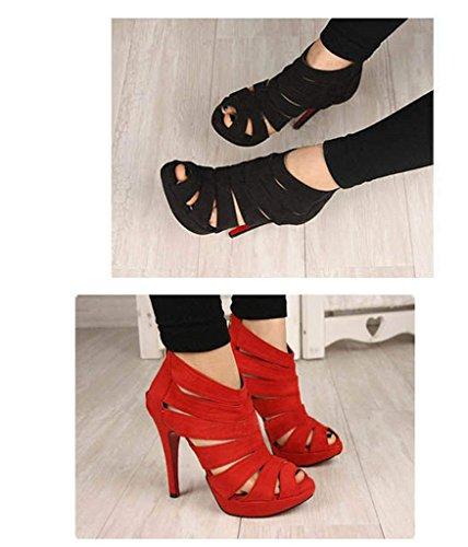 Sandali da Donna d'estate Scarpe Sexy con Tacco Alto Nero