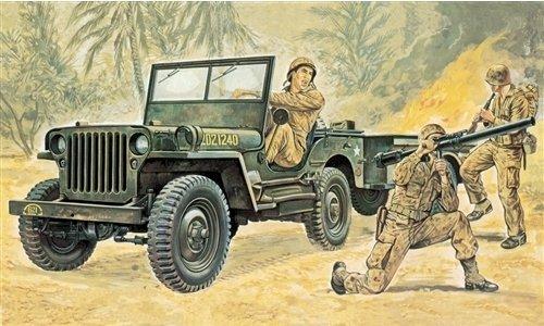 Willys jeep kit 1:35 italeri kit mezzi militari modello modellino die cast
