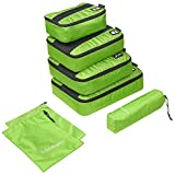 Organizador para Maleta, Trèsutopia Mobutler 6-en-1 Impermeable Bolsas de Viaje (Verde)