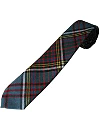 Skinny(Narrow) Tartan Tie – Premium Quality, Pure New Wool. Available in a selection of Tartans