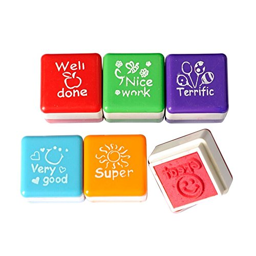 nava-lot-de-6-colorful-teacher-recompense-dencre-a-tampon-eloge-motivation-well-done-super-ideal-ter