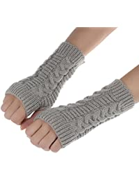 Guantes calientes unisex,Ouneed ® Moda brazo Guantes sin dedos invierno suave cálido guantes manopla