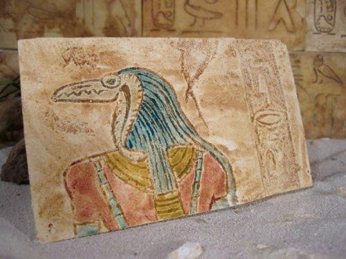 mentaterra Ägyptische Dekorfliese Nr. 2, Gottheit Krokodil, Terrarien Deko, 1 Stck