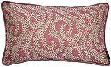 McAlister Textiles Luxury Kollektion | Großer Rechteckiger Little Leaf Kissenbezug | 60cm x 40cm in Rosa | Deko Kissenhülle für Bett, Sofa, Couch, Sessel | Blätter Ranken Motiv gewoben