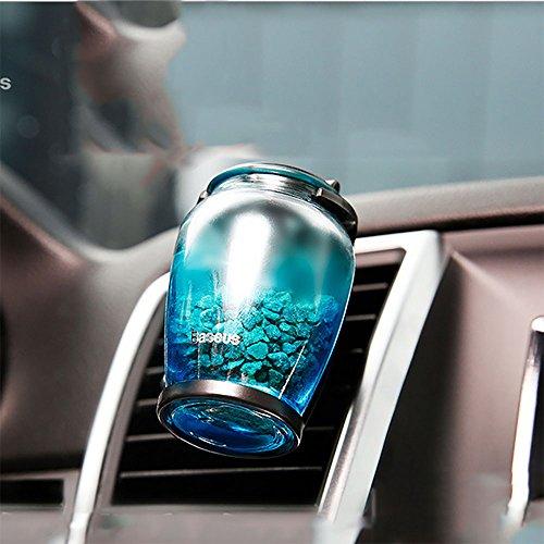 Preisvergleich Produktbild XIAOYA Aroma Diffusor Zeolith Glas Diffuser Auto Lufterfrischer Ätherisches Öl Luftreinigungsapparat Entfernen Sie Rauch Und Schlechte Gerüche, BLUEANGEL