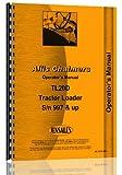 Allis Chalmers tl-20d Wheel Loader los operadores Manual
