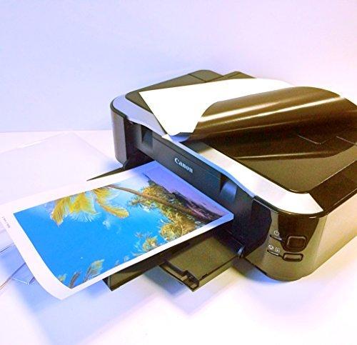 5 Blatt A4 Fotopapier magnetisch Magnetpapier - Inkjet-Magnetfolien DIN A4 matt/weiß