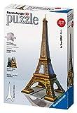Ravensburger 12556 - Eiffelturm 3D Puzzle-Bauwerke, 216 Teile