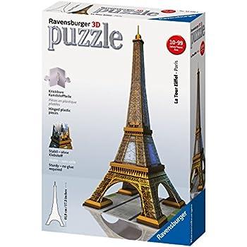 Ravensburger 12556 - Puzzle 3D Building - 216 Pièces - La Tour Eiffel