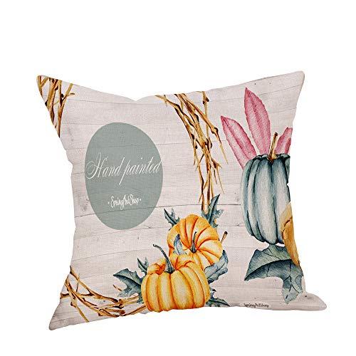 Carolui thanksgiving pillow case thankful sentiment federe ricamato gettare pillow case home decoration square divani sedie, divani guanciale, a, 45 x 45 cm
