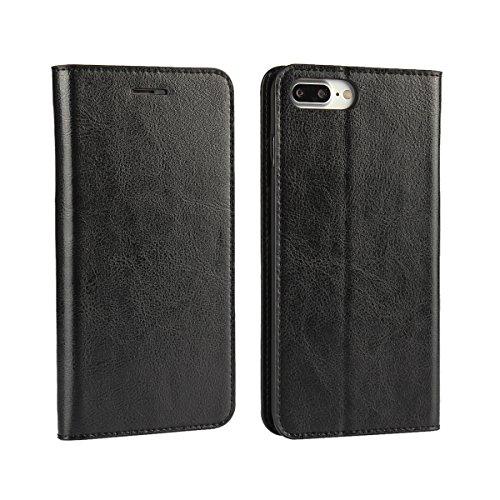 Cover iPhone 8, Cover iPhone 7, Jaorty Libretto di copertina con custodia in cassa di lusso con custodia in pelle con fascia di ricambio e slot per slot per iPhone 8 / 7 (4.7 ) - Rosso iPhone 8 Plus / 7 Plus (Nero)