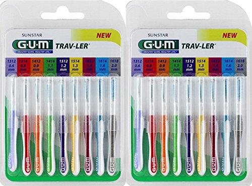 GUM TRAV-Ler Interdentalbürsten 2 x 9 er pack