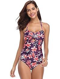 Hawiton Bikini Sexy Mujer Push up Trajes de Baño Mujer 2018 Dos Piezas V Bikinis Floral