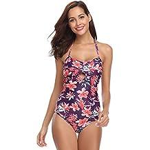 896db747ed351 Hawiton Bikini Sexy Mujer Push up Trajes de Baño Mujer 2019 Dos Piezas V  Bikinis Floral