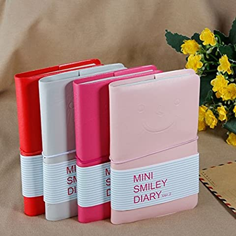 Schöne Mini Smiley Notebook Memo Leder Tagebuch Pocketbook