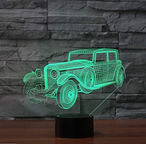 en Atmosphäre Led Vintage Auto Form Tischlampe Kinder Geschenke Usb Lampara Baby Schlaf Beleuchtung Wohnkultur ()