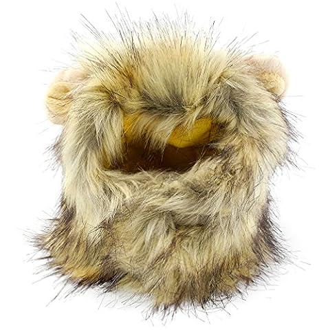 smalllee _ LUCKY _ ranger Pet vêtements pour petit chien Crinière de lion pour chat chapeau Costume Perruque Parti Festival Fancy