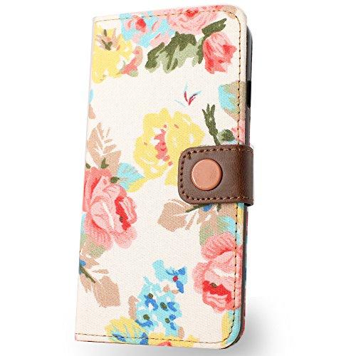BELK 4.7¡± Tissu Belle Filles Dispositif de haute qualité support téléphone Étui portefeuille à rabat avec emplacements pour cartes pour iPhone 6(11,9cm) Design Fleurs pour femme