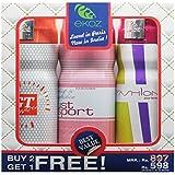 "Ekoz (Paris) GT WHITE, JUST SPORT FEMME & FASHION FEMME Imported Deodorant ""BUY 2 GET 1 FREE"" (200ml Each)"