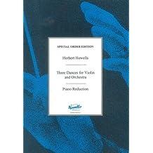 Herbert Howells: Three Dances. Partitions pour Violon/Accompagnement Piano