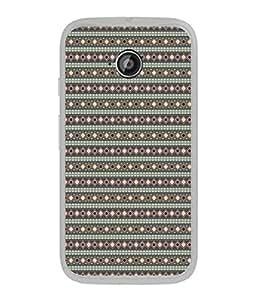 FUSON Designer Back Case Cover for Motorola Moto E :: Motorola Moto E XT1021 :: Motorola Moto E Dual SIM :: Motorola Moto E Dual SIM XT1022 :: Motorola Moto E Dual TV XT1025 (Seamless Pattern Blue Design Drawing )