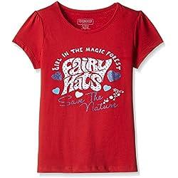 Cherokee Girls' T-Shirt (263844504_Red_8 - 9 years)