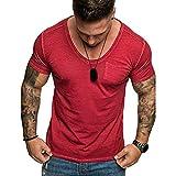 Hombres Mujeres Pareja,Longra  Hombres Mujeres Pareja Modelos Cat Patrón Imprimir O-Cuello de Manga Corta Camiseta Tops Blusa