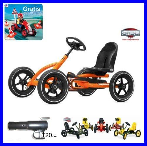 Preisvergleich Produktbild Berg Toys Gokart Modell Buddy orange inkl. Anhängerkupplung 24.20.60 u. 50.00.00.03 Playmobil Special Gratis, Junior Gokart Zubehör u. Ersatzteil möglich.