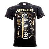 Metallica Hetfield Iron Cross Guitar Camiseta Negro S