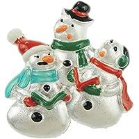 Festive-Pupazzo di neve, da uomo, colore: bianco, & Friends Lapen Pin-Spilla natalizia - Pupazzo Pin Spilla