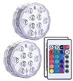 Alilimall Lumière Submersible de LED avec la télécommande, imperméabilisent la...
