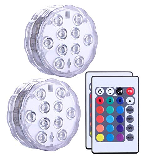 Luz Led Sumergible Multicolor Resistentes Agua Mando