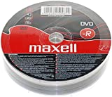 Maxell® DVD-R DVDR 16x Speed 4.7 GB 120 Min Video 10 Pieces 10pcs Blank Media Discs 10 DVDs Pack (1 packs (10 DVDs))