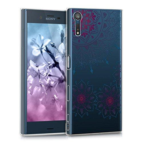 kwmobile Sony Xperia XZ/XZs Hülle - Handyhülle für Sony Xperia XZ/XZs - Handy Case in Pink Blau Transparent