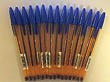 BIC Cristal Fine Ball Pen (Blue, 0.8 mm) -Pack of 15