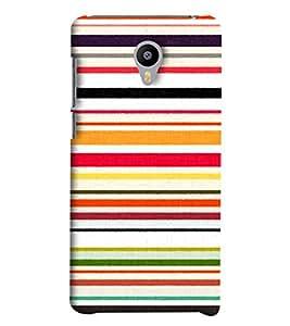 Blue Throat Horizontal Stripes Printed Designer Back Cover/Case For Meizu M2