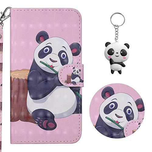 crisant Hülle Für iPhone X/XS Panda PU Leder Ständer Flip Brieftasche Schutzhülle Handyhülle Für Apple iPhone X/XS (5.8 Zoll) Mit Einem Geschenk