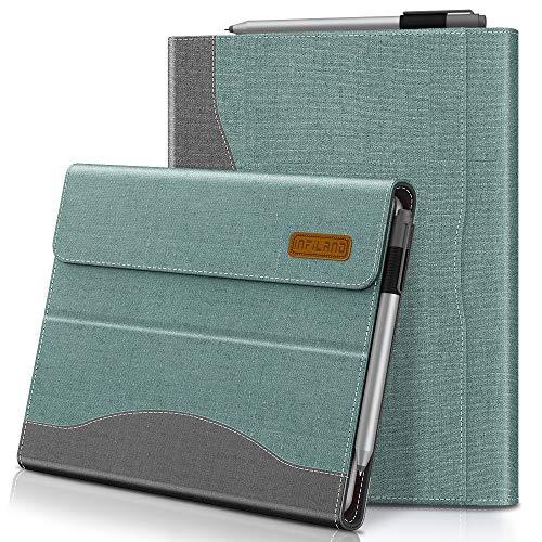 Infiland Microsoft Surface Go Hülle,PU-Lederne Vordere Unterstützung Schutzhülle Cover Tasche (Tablet,Tastatur & Bleistift Sind Nicht Enthalten),Minzgrün