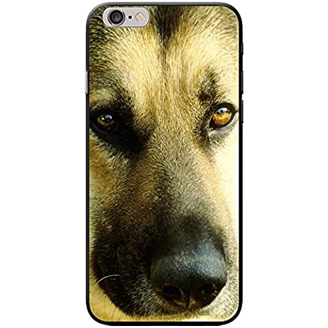 Close Up Face Of A German Shepherd Dog Snap-on Hard Back Case Phone Cover for Apple iPhone 6 / 6s