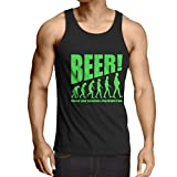 N4534V Camiseta sin mangas The Beervolution (XX-Large Negro Verde)